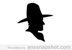 300x209 Cowboy Silhouette Clip Art