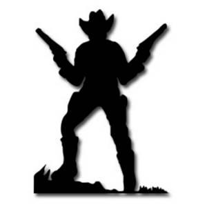 300x300 Cowboy Silhouette Clipart
