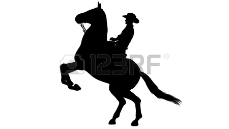 450x253 4,272 Cowboy Silhouette Cliparts, Stock Vector And Royalty Free