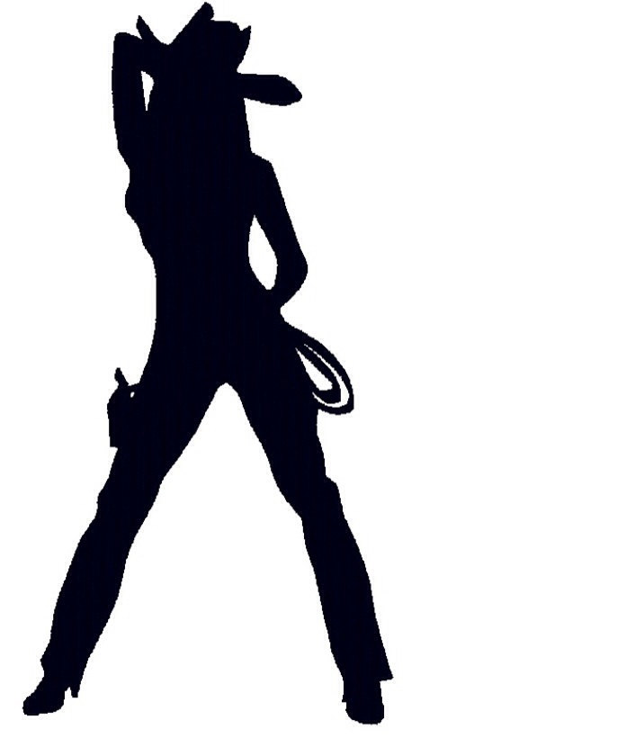 706x820 Cowgirl Clipart Silhouette