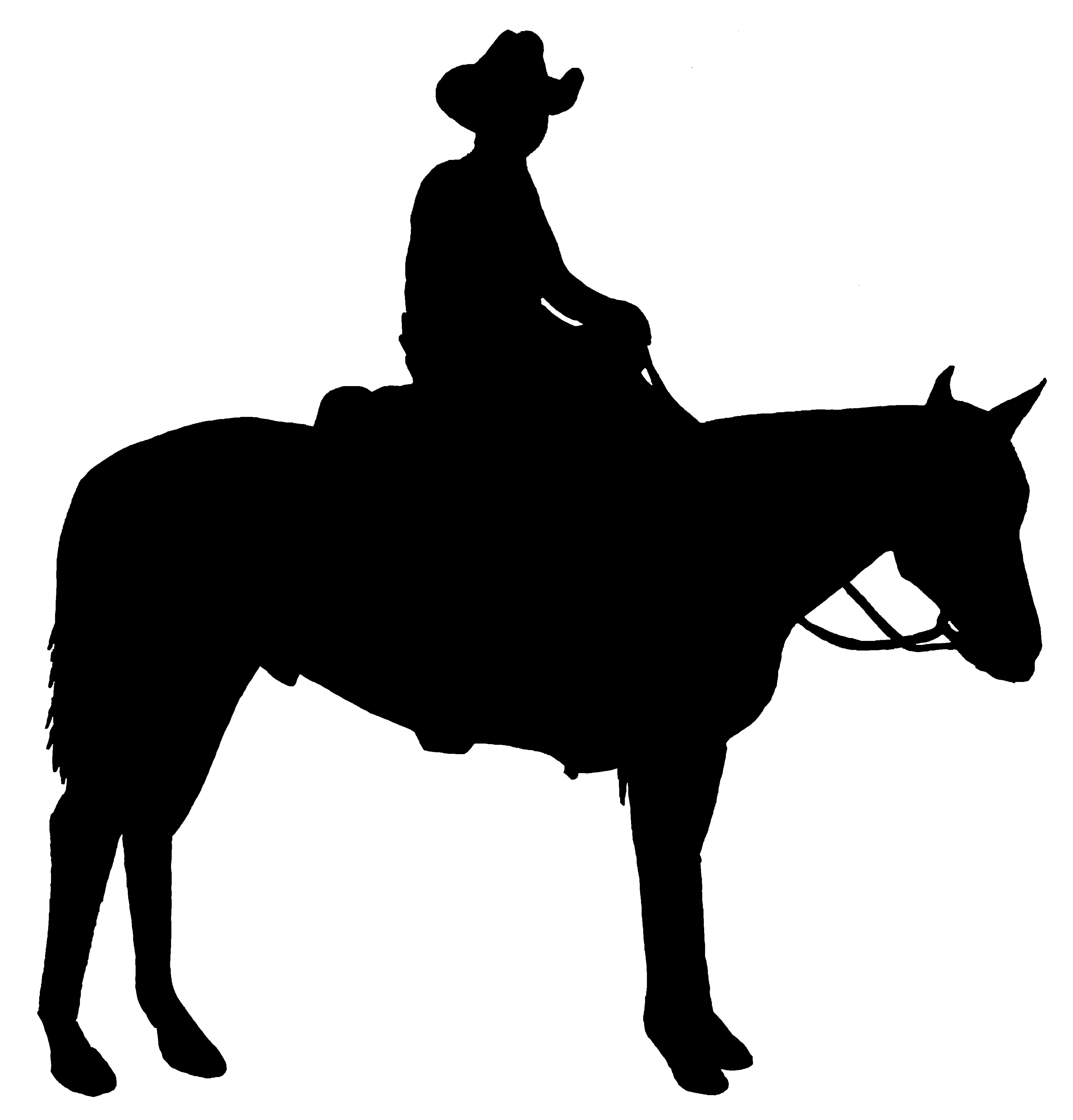 6900x7200 Cowboy Horse Clipart