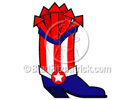 432x324 Cartoon Cowboy Boots Clipart