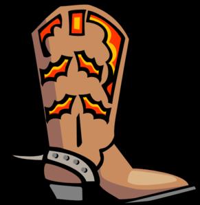 291x298 Cowboy Boot Clip Art
