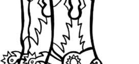 272x125 Cowboy Boots Clipart Black And White Cowboy Clip Art Image