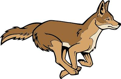 400x262 Coyote Clip Art Black And White Free Clipart Images 2 Image