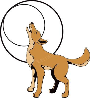 367x400 Dingo clipart coyote
