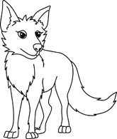 165x195 White Wolf Clipart Coyote
