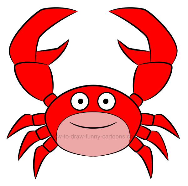 600x594 To Draw A Crab Clip Art