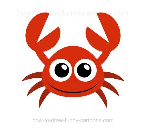 500x441 To Draw A Crab On Crabs Cartoon