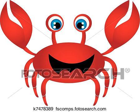 450x360 Clip Art Of Red Crab Cartoon K7478389