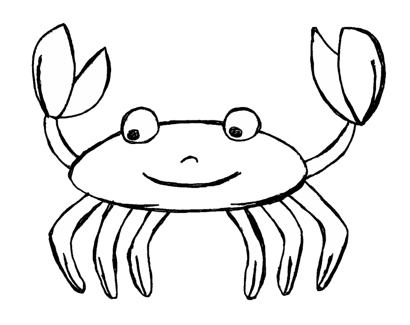 Captivating 830x659 Crab Clipart Black And White