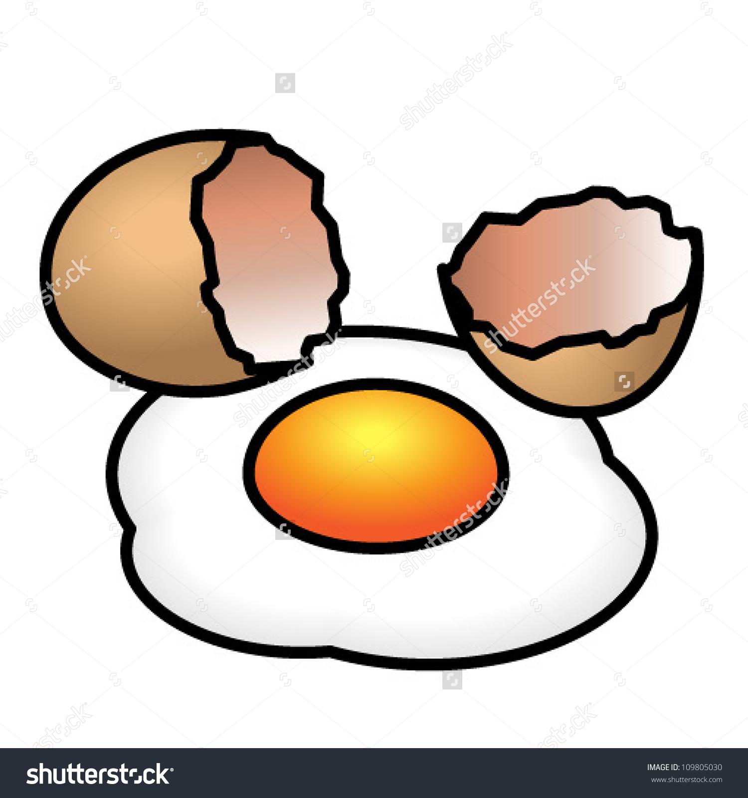 1500x1600 Cracked Open Egg Clipart