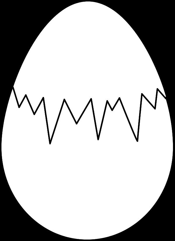 600x823 Cracked Egg Clip Art