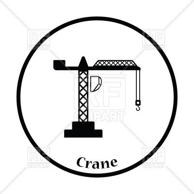 400x400 Icon Of Crane Royalty Free Vector Clip Art Image