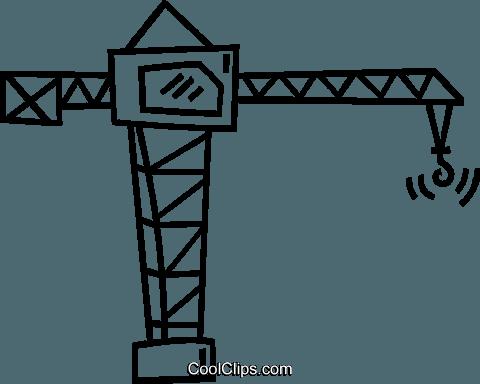 480x384 Crane Royalty Free Vector Clip Art Illustration Vc038870