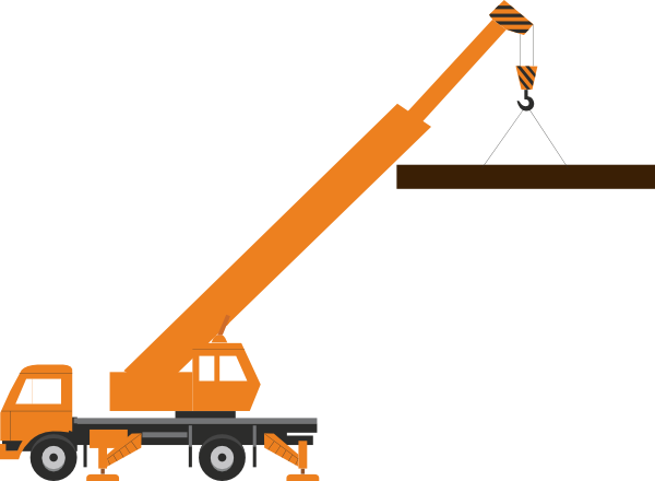600x440 Crane Large Load Clip Art