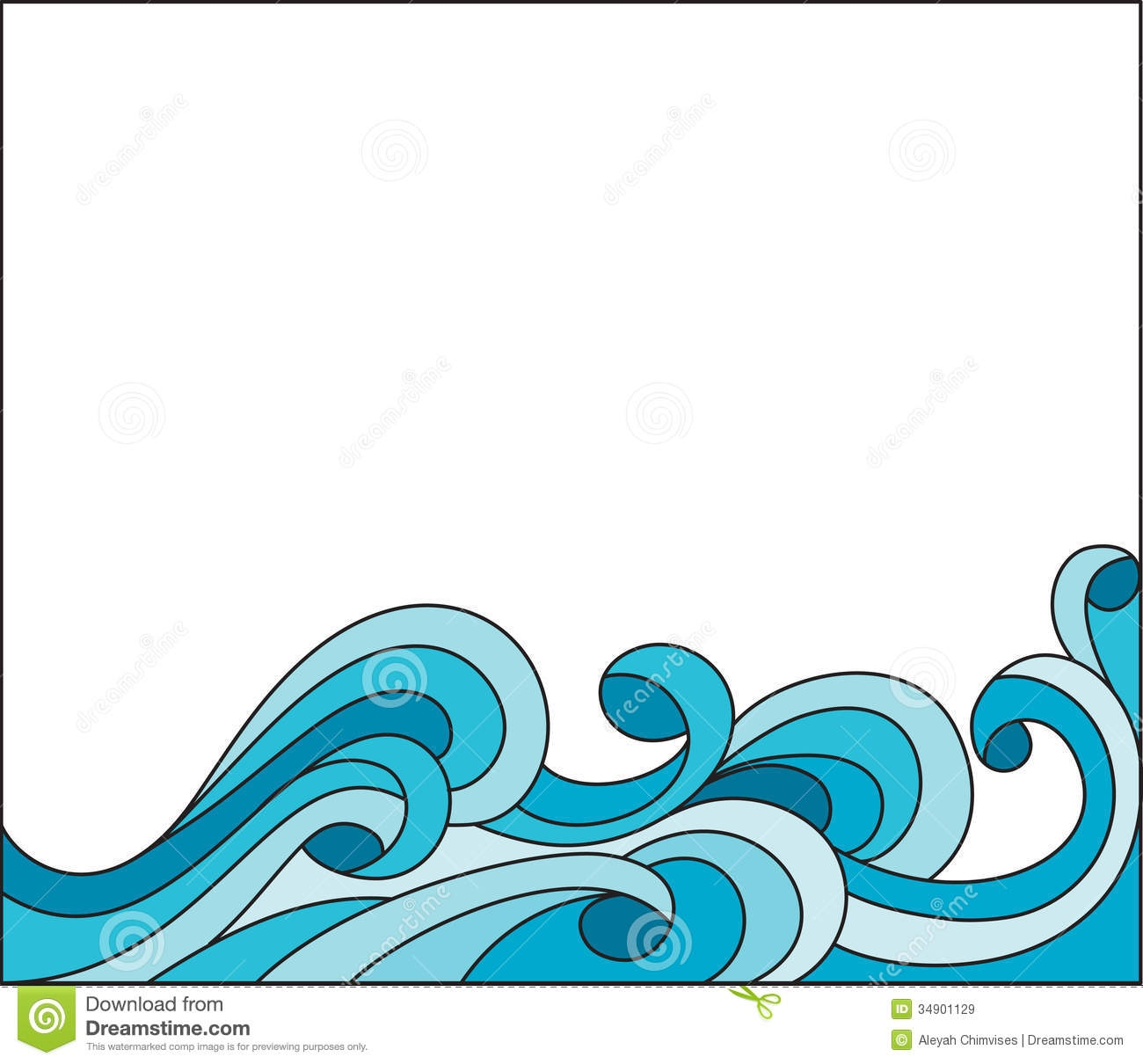 1300x1210 Waves Clipart Border Free