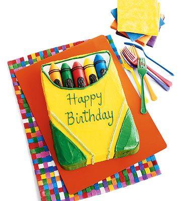360x400 Best Crayon Cake Ideas Art Birthday Cake