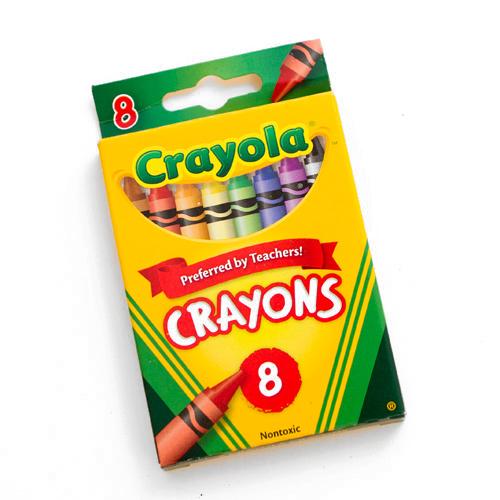 500x500 Crayola Crayon 8 Color Box