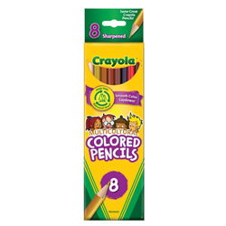 250x250 8 Count Multicultural Crayons
