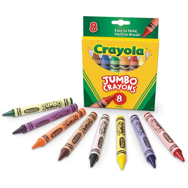 600x600 Jumbo Crayons