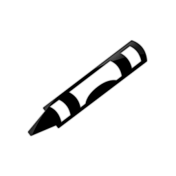 256x256 Crayon Clip Art Black And White Clipart Panda