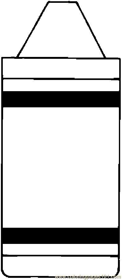 394x900 Crayon Clipart Outline