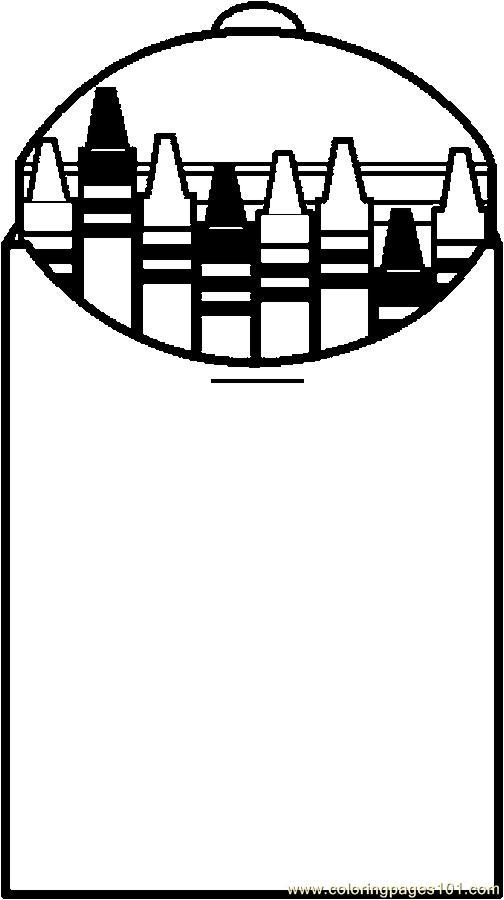 504x900 Crayon Clipart Printable