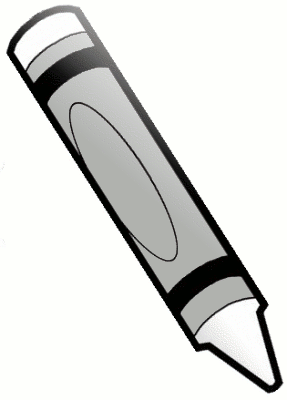 287x400 White Crayon Clip Art Free Clipart Images 2