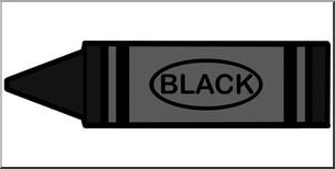 304x154 Clip Art Crayon Black Color I Abcteach