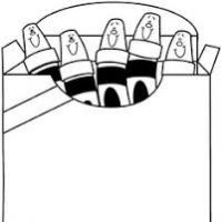 200x200 Crayons Clipart Black And White