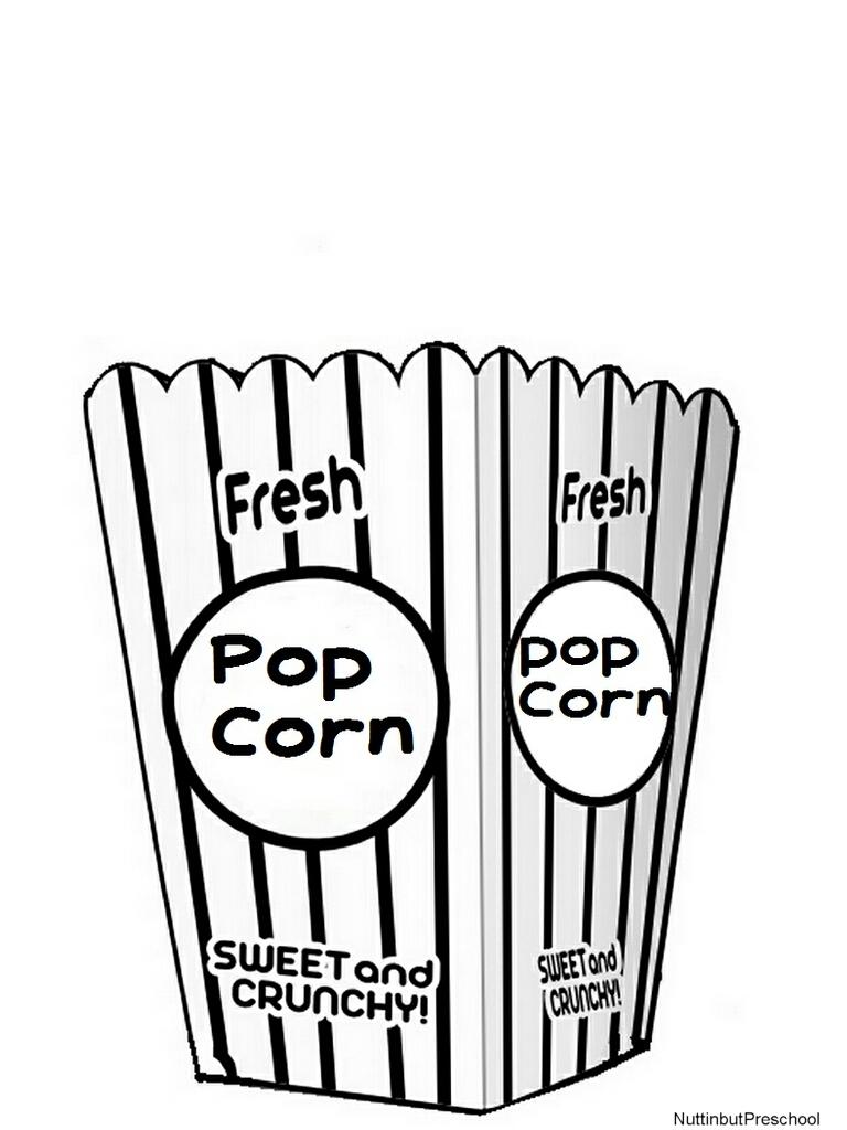 768x1024 Popcorn Black And White Clip Art Black And White Popcorn Bucket