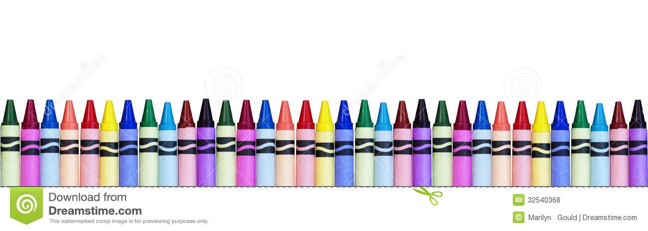 1300x464 Crayon Border Clipart