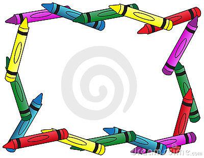 400x309 Crayon Border Clipart