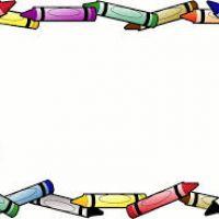 200x200 Crayon Clipart Border