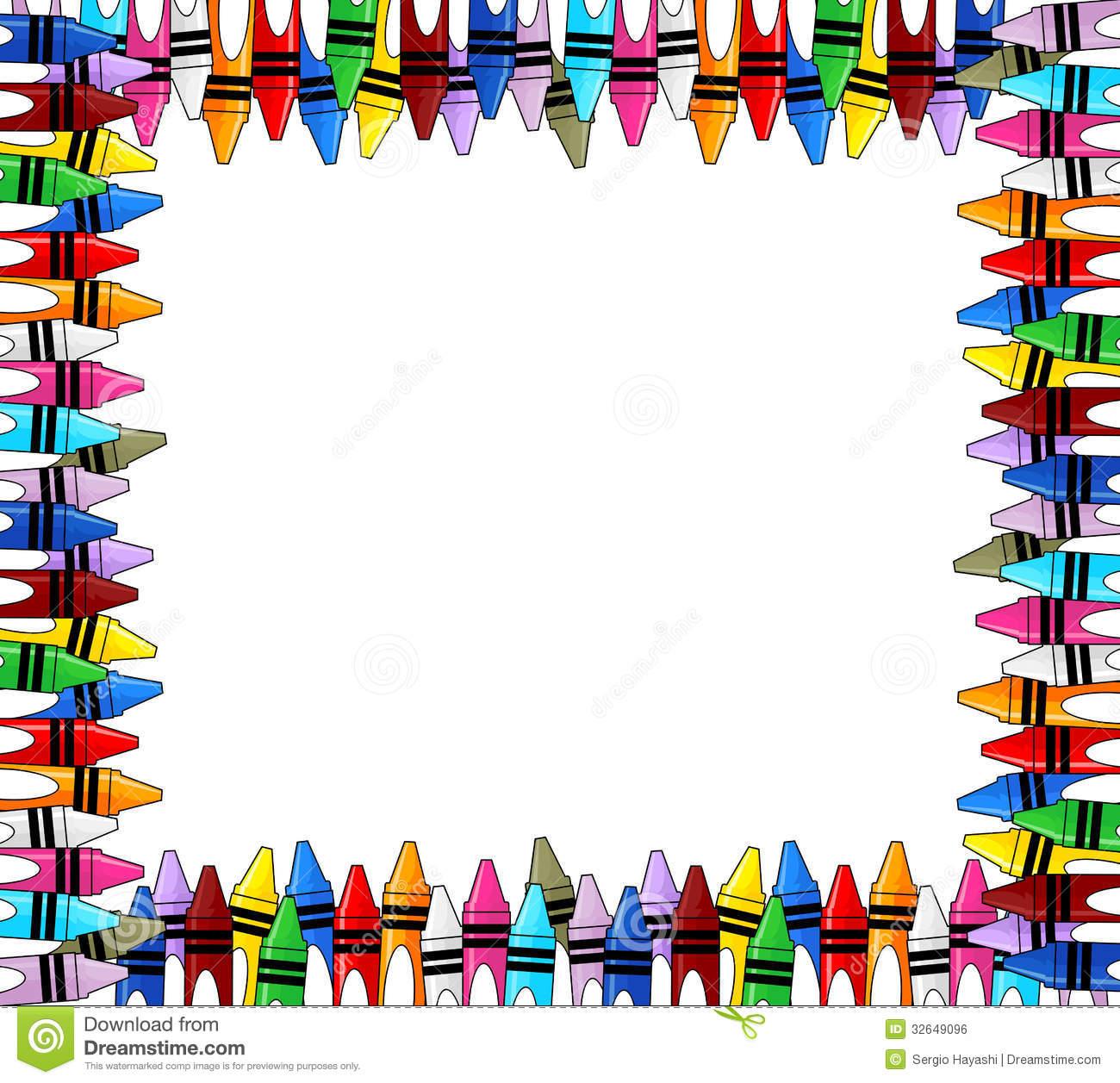 1300x1257 Frame Clipart Crayon