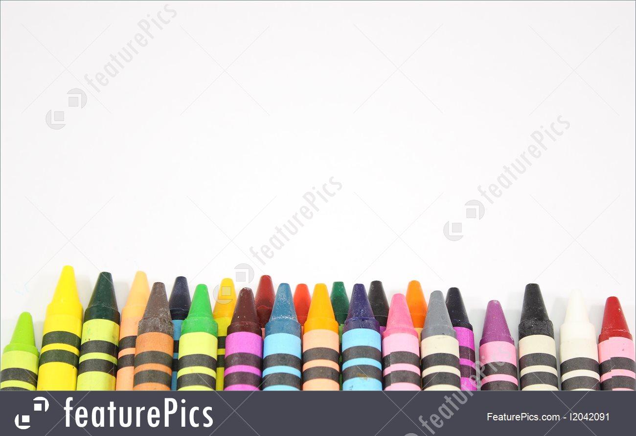 1300x892 Artistic Tools Crayon Border