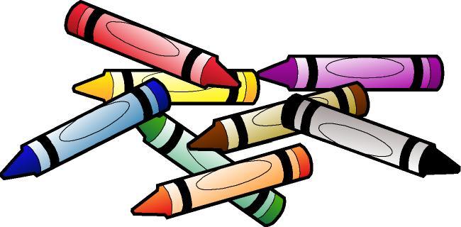 650x320 Cartoon Crayons Clipart