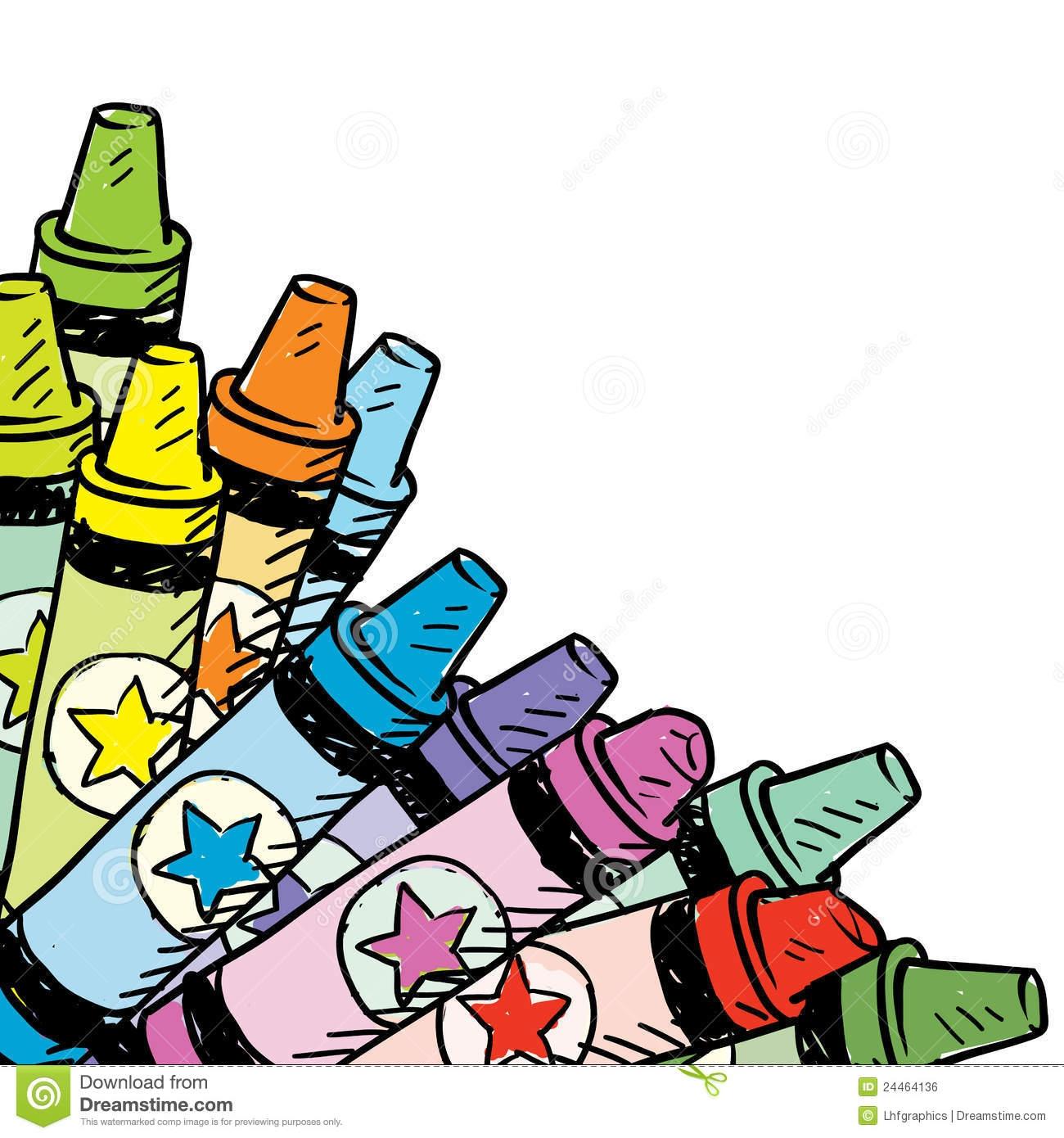1300x1390 Crayons Border Clipart