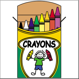 304x304 Clip Art Crayon Box Color I Abcteach