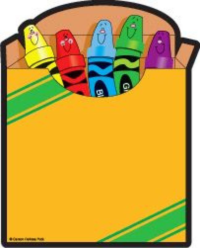 647x800 Free Crayon Box Clipart Image
