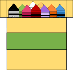 300x286 Box Of Crayons Clip Art