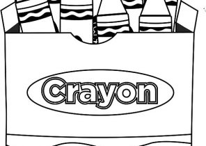 296x210 Crayon Coloring Pages