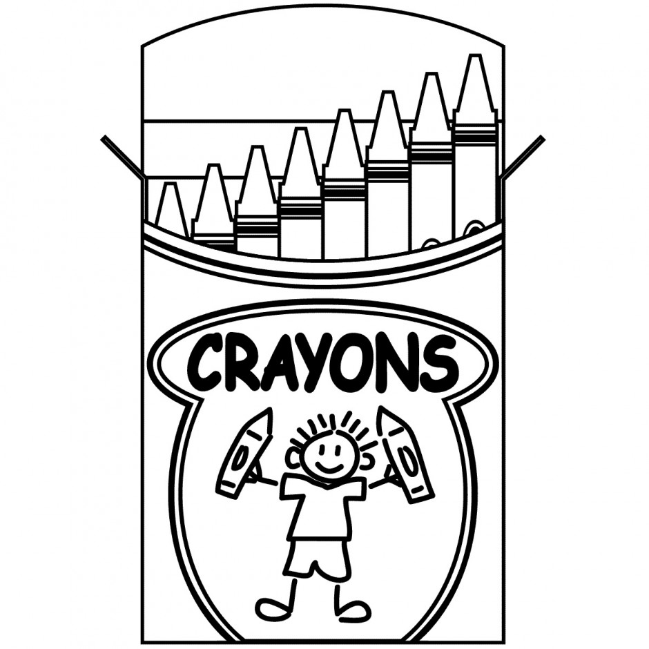 940x940 Crayon Box Coloring Pages For Kids