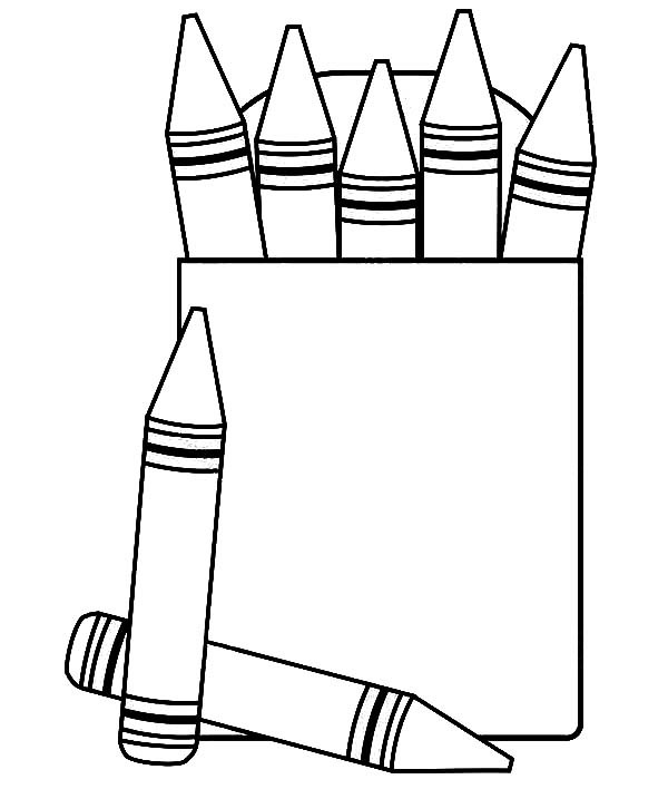 600x708 Crayon Box Coloring Pages Free To Print
