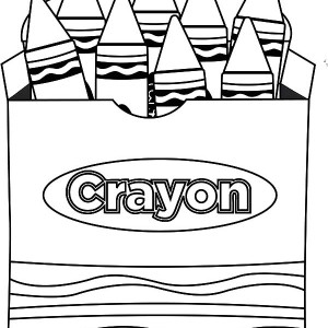 300x300 Crayon Clipart Coloring Page