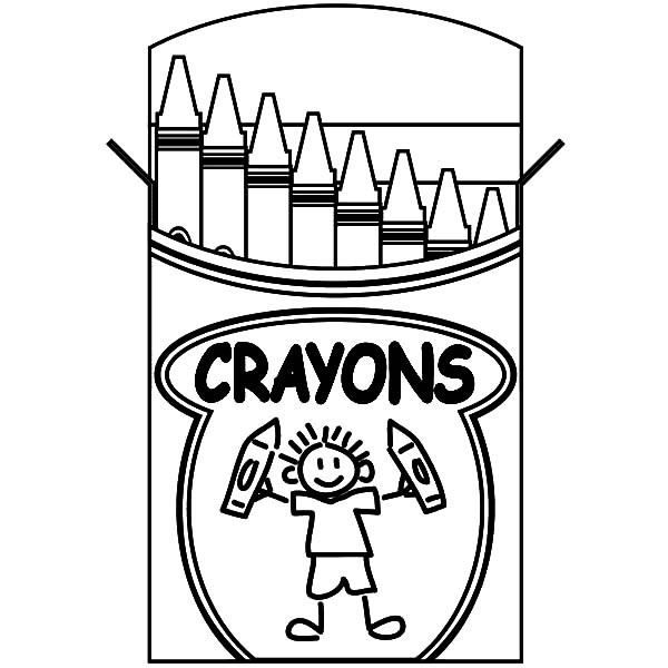 600x600 Kids Lifting Box Crayons Coloring Pages Best Place To Color