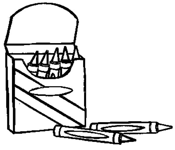 600x516 Opening Box Crayons Coloring Pages Best Place To Color