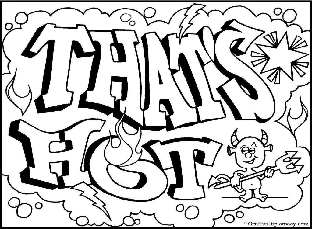1024x753 Graffiti Creatures Colouring Pages Coloring