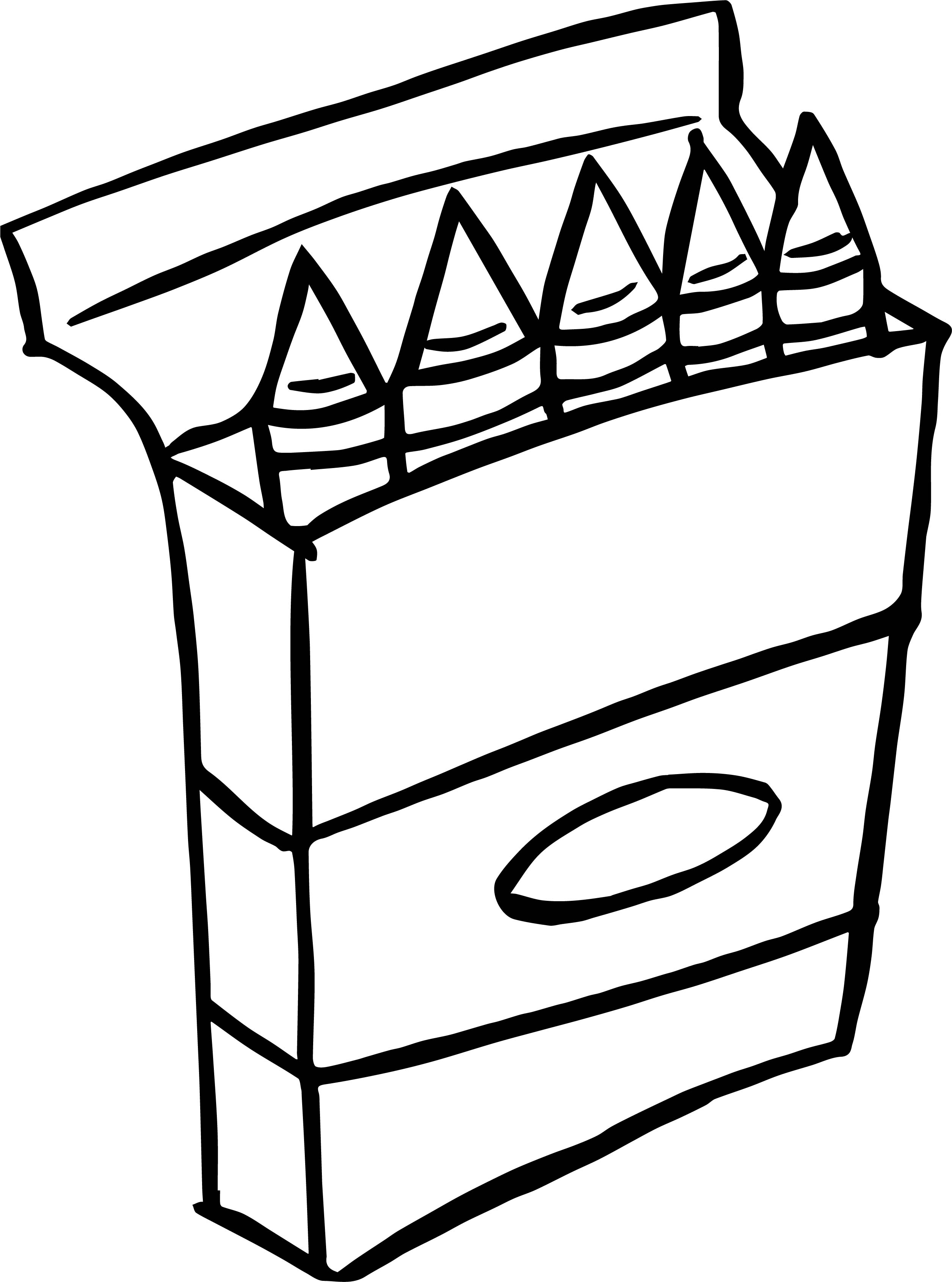 2511x3380 Crayon Box Coloring Page Wecoloringpage